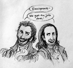 Lafayette and Hamilton #bros #Hamilton #musical