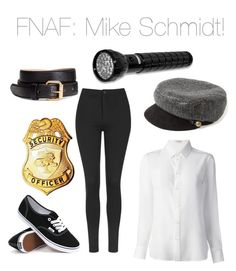 """""""Five Nights at Freddy's: Mike Schmidt!"""" by nerdybirdy1224 ❤ liked on Polyvore featuring Yves Saint Laurent, Topshop, Vans, Eugenia Kim and H&M"""