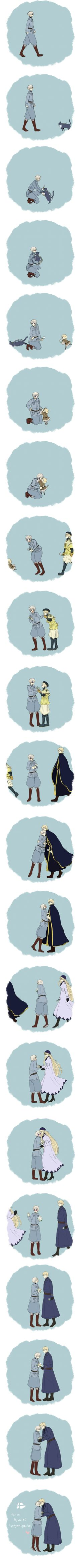 Tags: Fanart, Axis Powers: Hetalia, Sweden, Finland, Comic, Pixiv, Nordic Countries, Sira, Nekotalia, Nyotalia, Sweden (Female)