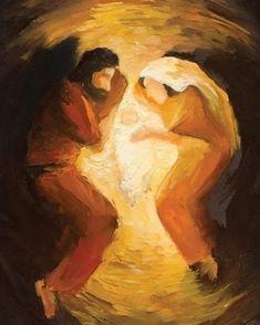 Joseph and Mary with Baby Jesus Lds Art, Bible Art, Catholic Art, Religious Art, Religious Paintings, Christian Paintings, Christian Artist, Prophetic Art, Jesus Art