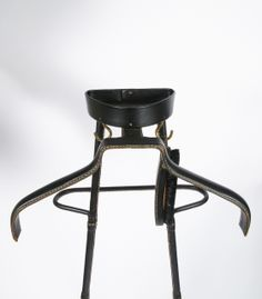 1950's Stitched Leather Valet by Jacques Valet | From a unique collection of antique and modern coat stands at http://www.1stdibs.com/furniture/more-furniture-collectibles/coat-stands/