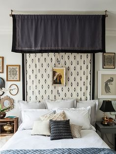 Learn how to create this dreamy canopy bed on our style blog: https://www.onekingslane.com/live-love-home/canopy-bed-diy/