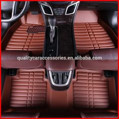 environmental protection the whole surrounded by leather car mats, car carpet, car mats leather car brown waterproof wear n