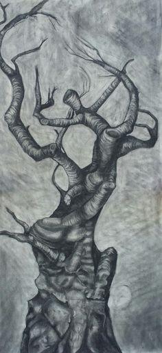 Original charcoal drawing by Rachel Lane. 4ft x 2ft. www.rachellaneart.com