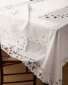 Image detail for -lacy table linens, eyelet table linens