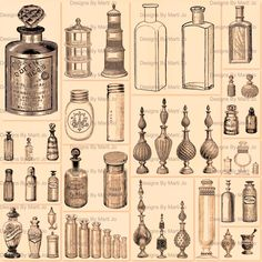 Antique Glass Bottles, Vintage Bottles, Vintage Glassware, Vintage Antiques, Vintage Items, Printable Mazes, Bottles And Jars, Perfume Bottles, Apothecary Jars
