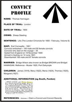 Convict Profile - Thomas Hannagan