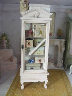 12th scale shabby chic storage cabinetdolls by shabbychicminis
