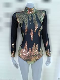 M575 Fire Cute Cher Bugle Leotard Bodysuit