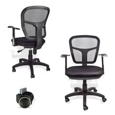 Pin it :-) Follow us :-)) AzOfficechairs.com is your Officechair Gallery ;) CLICK IMAGE TWICE for Pricing and Info :) SEE A LARGER SELECTION of  arm rest office chair at http://azofficechairs.com/category/office-chair-categories/arm-rest-office-chair/ -  office, office chair, home office chair -  Mesh Back Fabric Seat Ergonomic Office Desk Task Chair Secretary Conference New « AZofficechairs.com