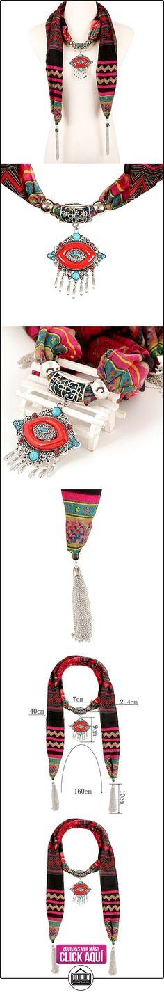 Lureme® bohemio gasa colgante étnico de labios con la bufanda de la borla Collar (01003365)  ✿ Joyas para mujer - Las mejores ofertas ✿ ▬► Ver oferta: https://comprar.io/goto/B018HVAFTE