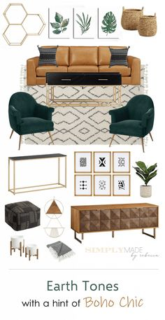 Living Room Green, Boho Living Room, Boho Chic Bedroom, Living Room With Chairs, Living Rooms, Diy Bedroom, Deco Studio, Living Room Inspiration, Inspiration Boards