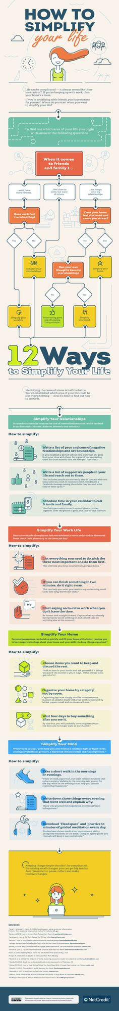 How to Simplify Your Life #Infographic #HowTo