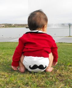 Say what?  'stache diaper!
