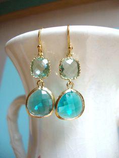 #earrings #wedding #turquoise