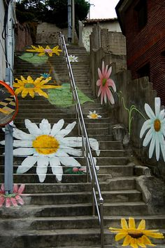 flower steps in Ewha, Korea