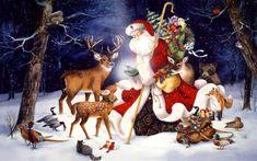 The Wonders of His Love - Brenda Harris Tustian Animated Christmas Wallpaper, Christmas Live Wallpaper, Xmas Wallpaper, Christmas Artwork, 3d Christmas, Christmas Background, Woodland Christmas, Father Christmas, Christmas Projects
