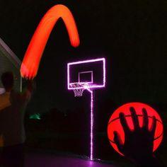 GlowCity Portable Glow In The Dark LED Basketball & Hoop Lighting Kit - Pink (Basketball Hoop Not Included) Lifetime Basketball Hoop, Basketball Rim, Houston Basketball, Girls Basketball Shoes, Basketball Plays, High School Basketball, Basketball Workouts, Basketball Skills, Basketball Uniforms