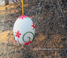 embroidery on eggs - I'll be blogging how-to's, tips, and techniques between now and Easter: http://www.needlenthread.com/2013/02/hand-embroidery-on-eggs-sneak-peek.html