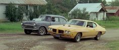 The GTO and the Chevy from the movie Two Lane Blacktop