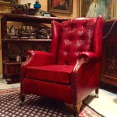 eBay item chesterfield wing back chair