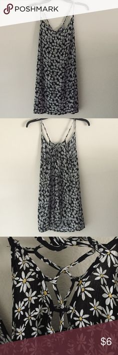 NWOT Forever 21 daisy dress with lace up back Brand new never worn dress. 100% rayon Forever 21 Dresses