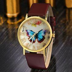 Luxury Watch Leather High-grade Quartz Butterfly Style Vouge Wristwatch Relogio
