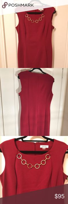 Calvin Klein Red Dress Brand new - perfect condition with tags Calvin Klein Dresses