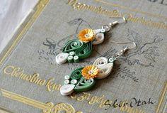 first anniversary gift for her Filigree earrings white by SbirOtak