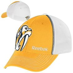 4bac02de4a8 Reebok Nashville Predators Structured Flex Hat - Gold White