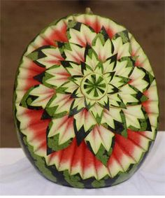 epic watermelon carved flower