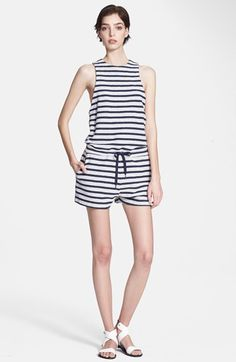T+by+Alexander+Wang+Stripe+French+Terry+Romper+available+at+#Nordstrom