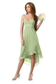 Pistachio Alfred Angelo 6471 Bridesmaid Dress | Weddington Way