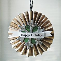 If you made this larger it would make a great wreath for the door!