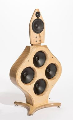 Icono Audio's IAQ-1. Active DSP-controlled 3-way open-baffle speaker. Looking pretty crazy.