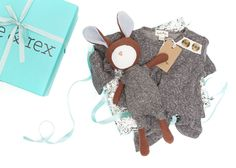 Hazel Village Lucas Rabbit & Romper Gift Box
