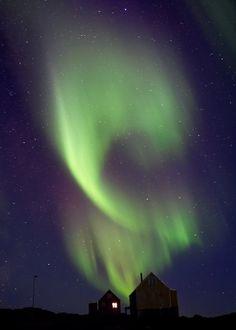 Aurora Smoke -Greenland -Untitled by Nick Russill