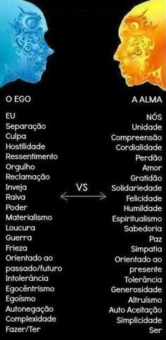 o ego versus a alma Reiki, Chakra Healing, Osho, Wicca, Positive Vibes, Knowledge, Mindfulness, Wisdom, Messages