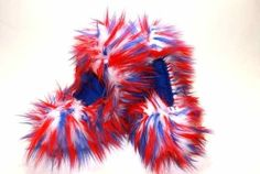 Show your patriotic spirit with these red, white & blue Fuzzy Soakers.  Get them at Kinzie's Closet!