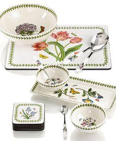 Botanic garden glory on pinterest dinnerware gardens for Portmeirion dinnerware set of 4 botanic garden canape plates
