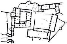 Fig.6: Plan des appartements officiels du château de Stirling (Écosse), premier étage, d'après un plan du xviiesiècle.