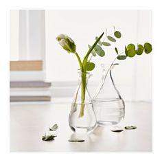 IKEA - VÅRVIND, Vase, lot de 2, La forme unique de ce vase le rend aussi beau avec des fleurs que sans.