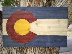 Colorado Flag Medium by Colorado Joes by ColoradoJoes on Etsy, $110.00