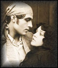 "Rudolph Valentino and Lila Lee in the silent movie ""Blood and Sand'', 1922"