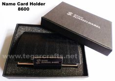 8600: A Business Card Holder for an exclusive souvenir ordered by PT Bank Sumsel Babel, Palembang Sumatera Selatan Indonesia. Rough texture similar to leather snake with separate opener of the lid. The right choice to serve as a banks souvenir or government agencies. Ideal also to serve as the exclusive merchandise or to be given to customer when you visited them. Business Card Holders, Business Cards, Government Agencies, Name Card Holder, Palembang, Name Cards, Banks, Separate, Texture