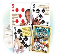 Flickback 1984 Trivia Playing Cards 30th Birthday or 30th Anniversary Gift:Amazon:Sports & Outdoors