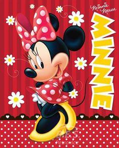 Deka fleece Licenční 120x150 - Minnie mouse RED | BES Petrovice