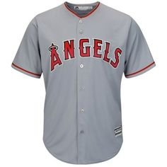 LA Angels of Anaheim Majestic Official 2015 Authentic Collection Cool Base  Road Replica Jersey 4d35550aeac