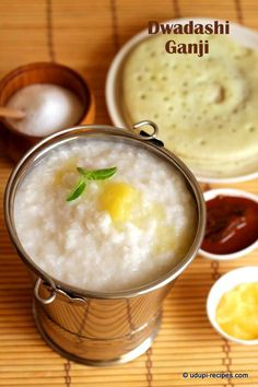 Coconut milk rice porridge=> Ganji.. A simple and comforting food to break the fast. Learn how to make this awesomeness.