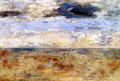 Sky Study Eugène-Louis Boudin - circa 1888-1895 #art